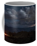 Lightning And Light Trails Coffee Mug