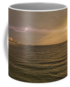 Lightning And Rainbow, Fort Myers Beach, Fl Coffee Mug