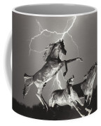 Lightning At Horse World Coffee Mug