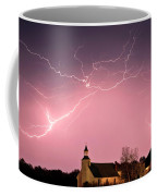 Lightning Bolts Over Spring Valley Country Church Coffee Mug