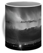 Lightning Cloud Burst Black And White Coffee Mug