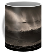 Lightning Cloud Burst Boulder County Colorado Im39 Sepia Coffee Mug