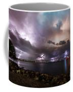 Lightning Over The Sanibel Bridge Coffee Mug