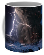 Lightning Pierces The Erupting Coffee Mug by Sigurdur H Stefnisson