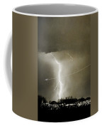 Lightning Storm City Lights Jet Airplane Fine Art Photography Coffee Mug