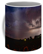 Lightning Stormy Weather Of Sunflowers Coffee Mug