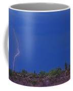 Lightning Strike In The Desert Coffee Mug