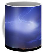 Lightning Strikes Over Boulder Colorado Coffee Mug