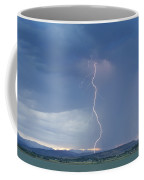 Lightning Striking At Sunset Rocky Mountain Foothills Coffee Mug