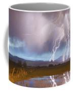 Lightning Striking Longs Peak Foothills 4 Coffee Mug