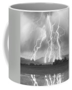 Lightning Striking Longs Peak Foothills 4cbw Coffee Mug by James BO  Insogna