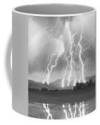 Lightning Striking Longs Peak Foothills 4cbw Coffee Mug