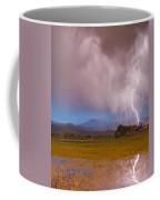 Lightning Striking Longs Peak Foothills 7c Coffee Mug