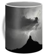 Lightning Striking Pinnacle Peak Arizona Coffee Mug
