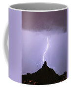 Lightning Striking Pinnacle Peak Scottsdale Az Coffee Mug