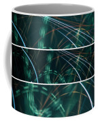 Green Film Grain Lightpainting Abstract Coffee Mug