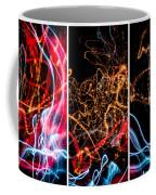 Lightpainting Triptych Wall Art Print Photograph 5 Coffee Mug