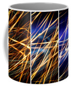 Lightpainting Triptych Wall Art Print Photograph 6 Coffee Mug