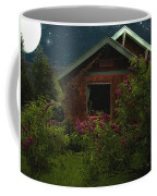 Lilac Cottage By Moonlight Coffee Mug