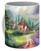 Lilac Fields In The Italian Countryside   Coffee Mug