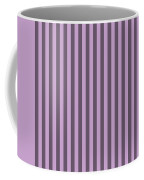Lilac Purple Striped Pattern Design Coffee Mug
