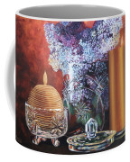 Lilacs And Candles Coffee Mug