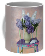 Lilacs With Chair And Shell Coffee Mug