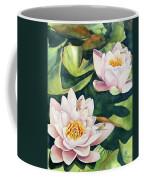 Lilies And Dragonflies Coffee Mug
