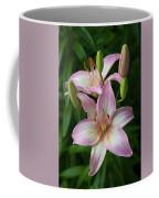 Lilies And Raindrops Coffee Mug