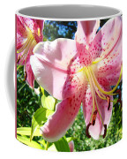 Lilies Art Prints Pink Lily Flowers 2 Giclee Prints Baslee Troutman Coffee Mug