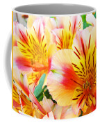 Lilies Art Prints Pink Yellow Lily Flowers 1 Giclee Prints Baslee Troutman Coffee Mug