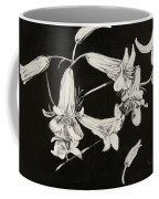 Lilies Black And White Coffee Mug by Elizabeth Lane