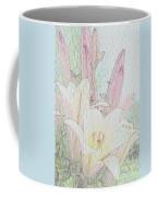 Lilies. Flowers And Buds. Coffee Mug