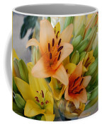 Lillies - Peach And Yellow Colors Coffee Mug