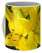 Lilly Flowers Art Prints Yellow Lilies Floral Baslee Troutman Coffee Mug