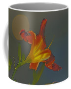 Lily Abstract Dark Background Bright Flower Coffee Mug