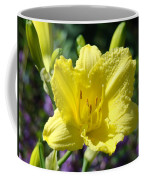Lily Flower Art Print Canvas Yellow Lilies Baslee Troutman Coffee Mug