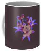 Lily Flowers Blue Maroon Coffee Mug
