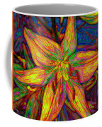 Lily In Abstract Coffee Mug