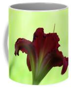 Lily Red On Green Coffee Mug