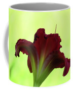 Lily Red On Yellow Green - Daylily Coffee Mug