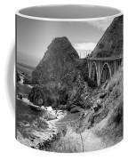 Lime Creek Bridge Highway 1 Big Sur Ca B And W Coffee Mug