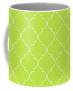 Lime Punch Quatrefoil Coffee Mug