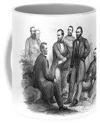 Lincoln And His Generals Black And White Coffee Mug
