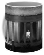 Lincoln At Night Bw Coffee Mug