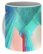Lincoln Column Blue Coffee Mug