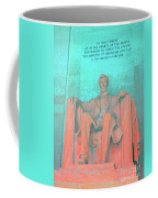 Lincoln In Blue Coffee Mug