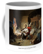 Lincoln Writing The Emancipation Proclamation Coffee Mug