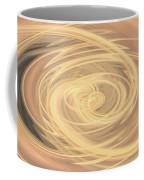 Line Art In Gold And Yellow Coffee Mug