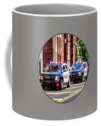Line Of Police Cars Coffee Mug